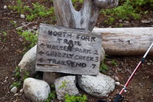 Sign to North Fork Meadows