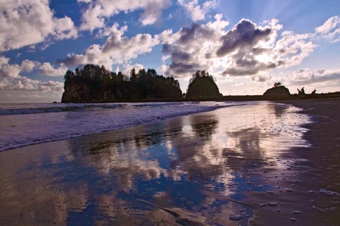 First Beach Reflection
