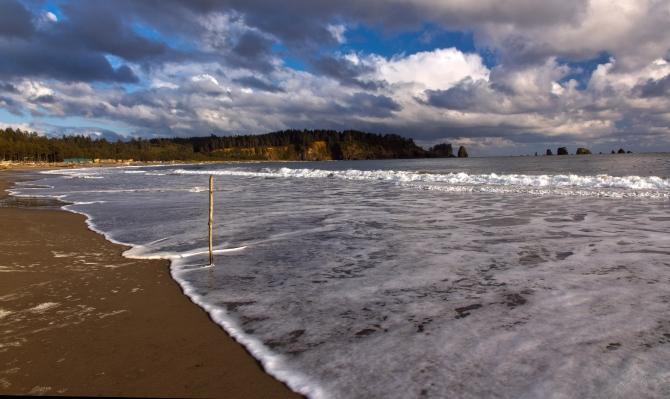 First Beach Line on the Sand