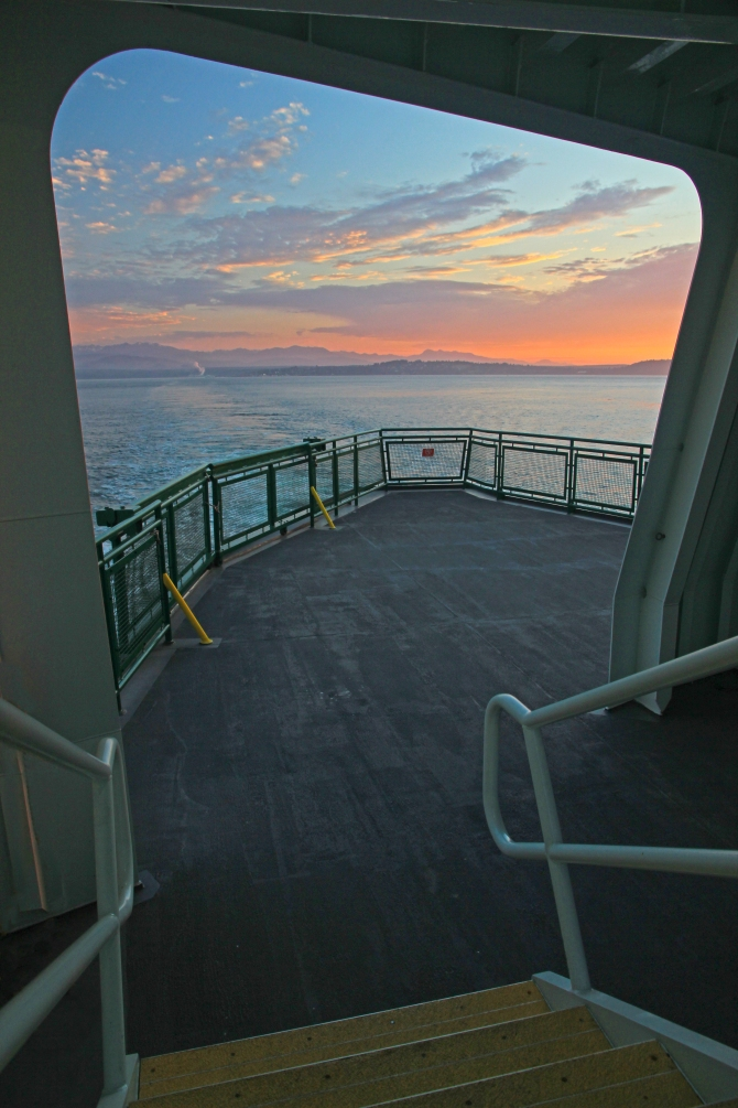 Sunset on the Port Townsend Ferry