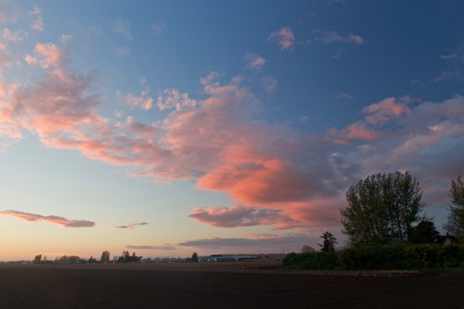 Skagit County  Sunset Oct. 16th, 2012