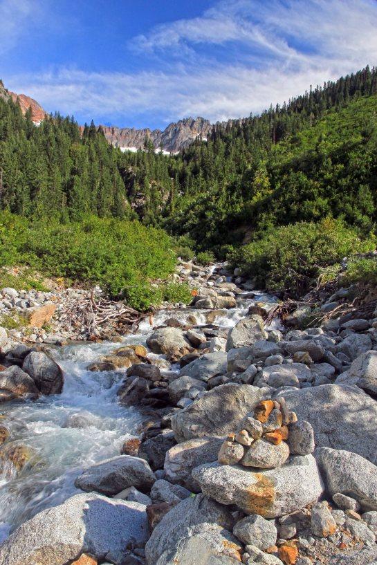 Cairn at Basin Creek Crossing