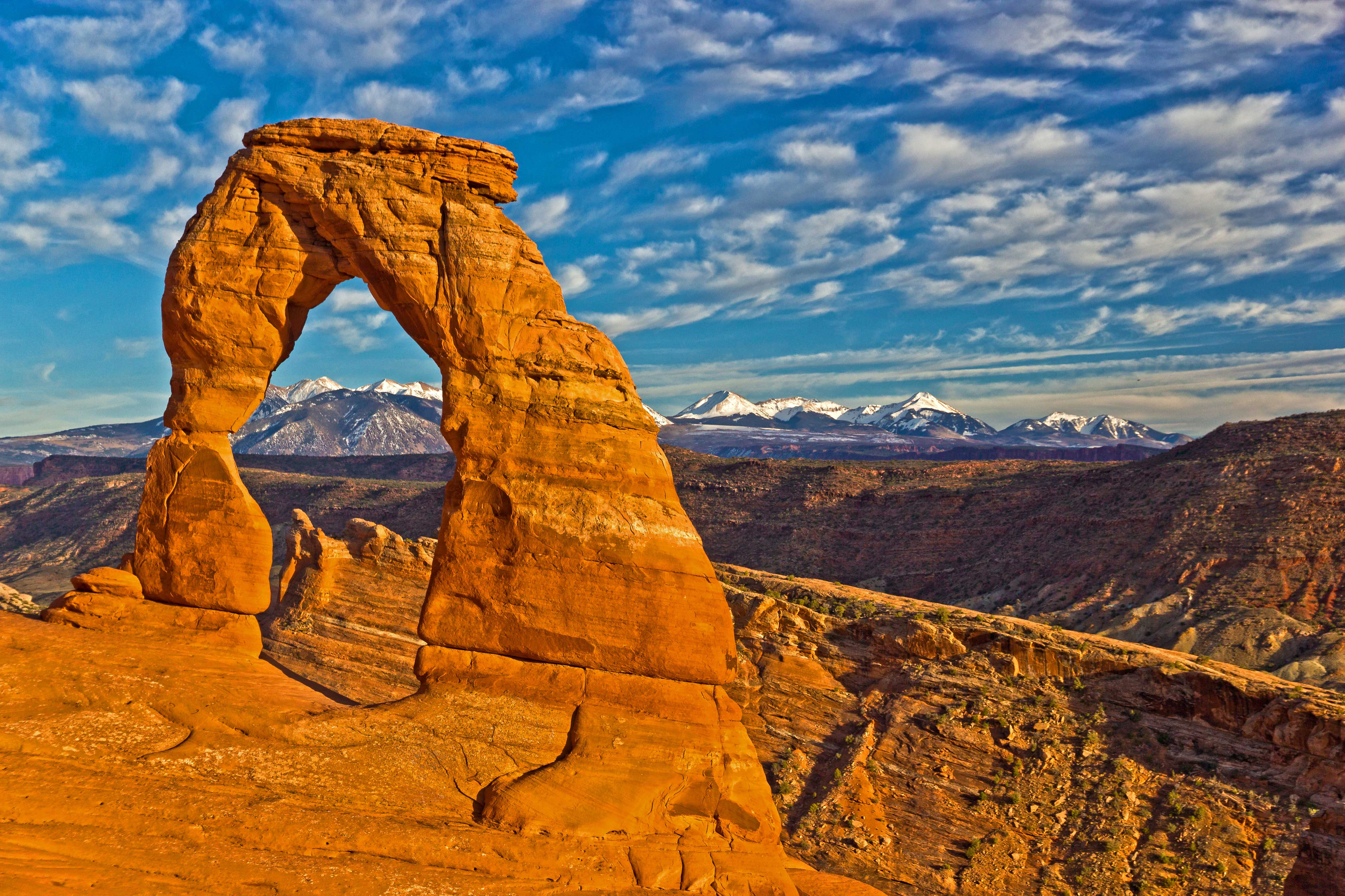 how tall is delicate arch