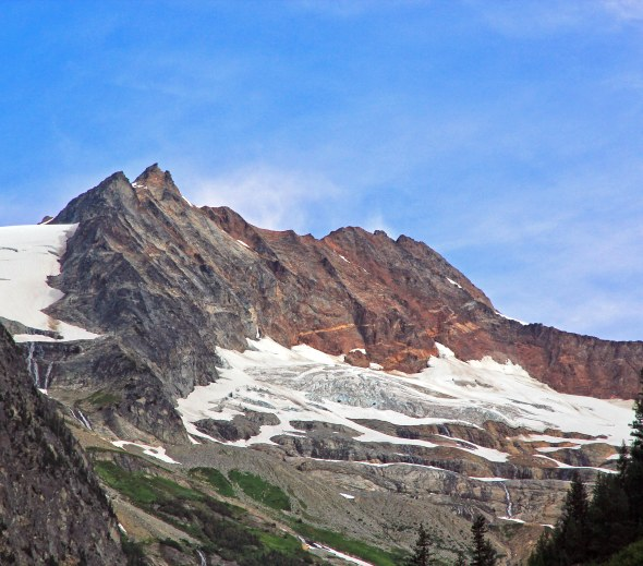 Horseshoe Basin, Close up of Boston Peak and Sahale Mountain