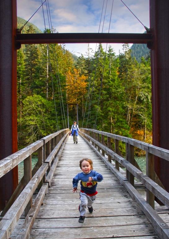 Bridge over the baker river
