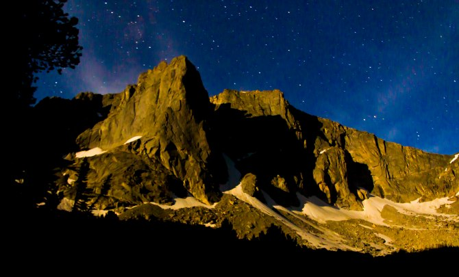 Warrior Peak in the moonlight em