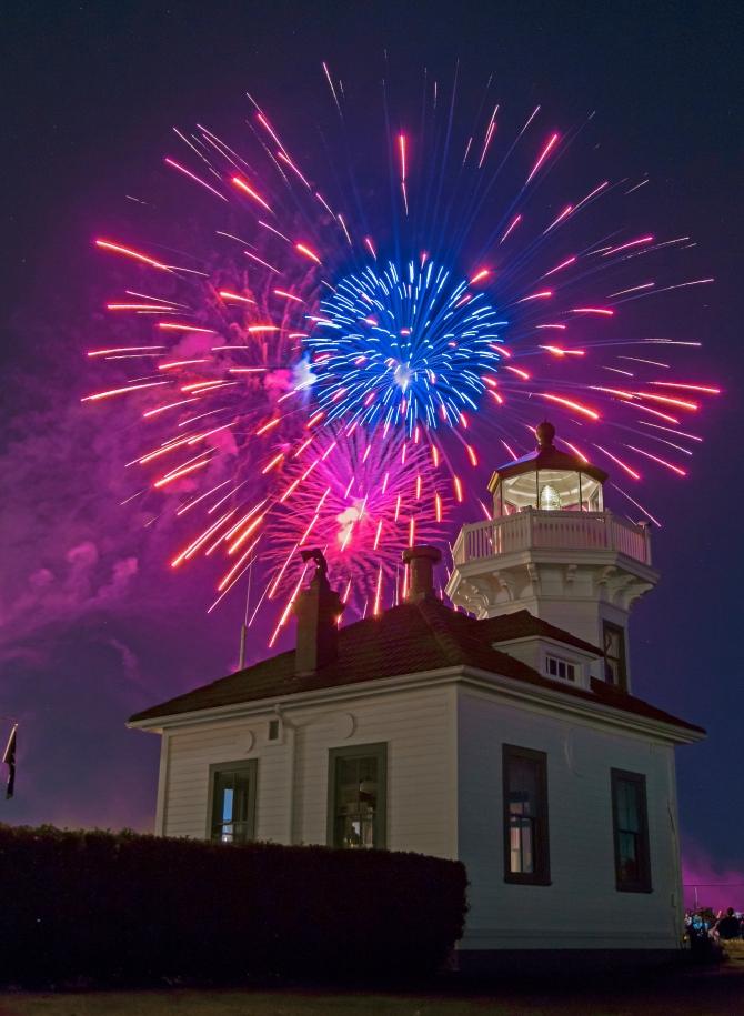 Mukilteo Lighthouse Festival Fireworks