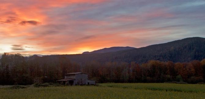 Barn Sunrise Oct. 18th 5
