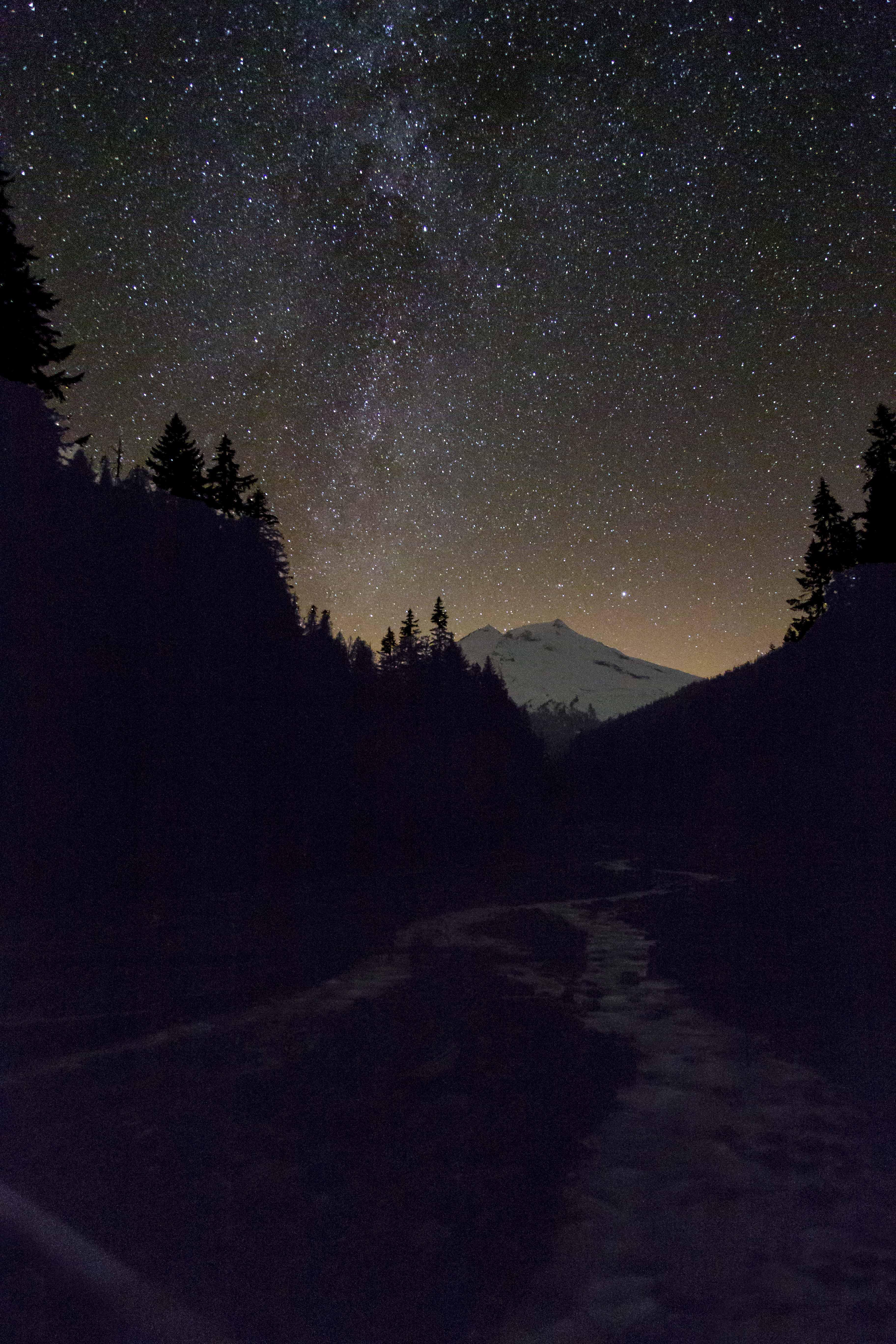 Moon And Stars At Nigh...