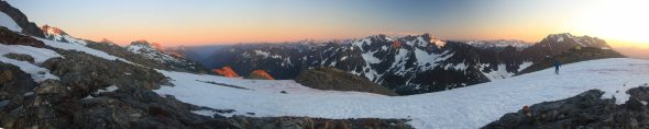 sahale camp sunset Panorama