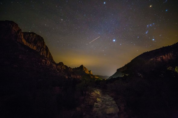 Zion River and Orion