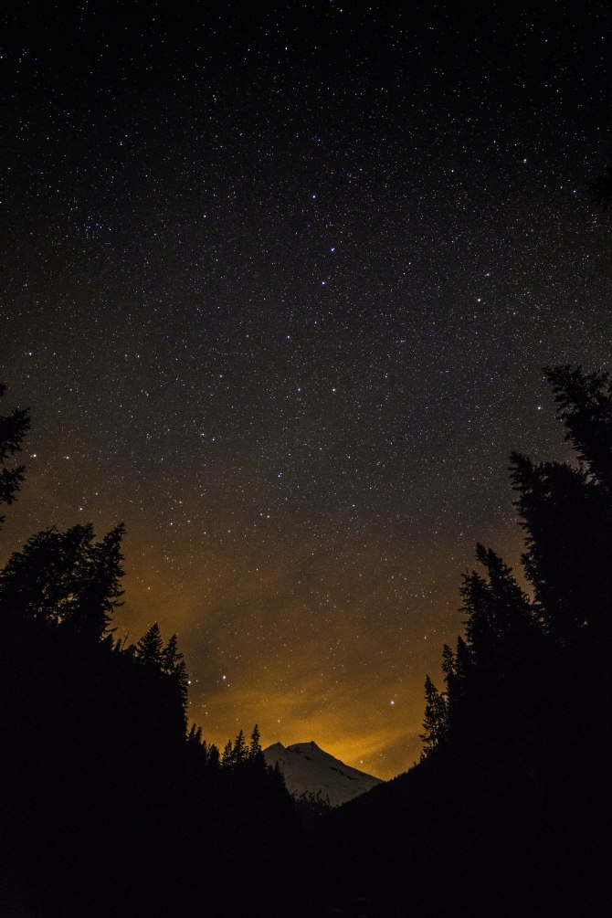Mount Baker and the Big Dipper