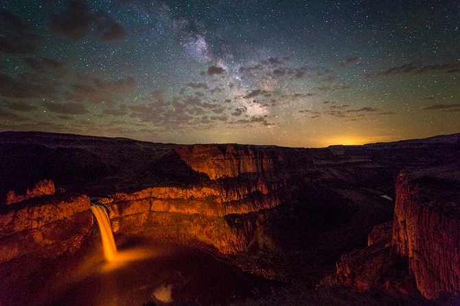Palouse Falls and the Milky Way