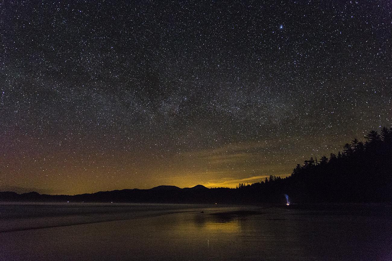 фото ночного неба с характеристиками волков насчитывает