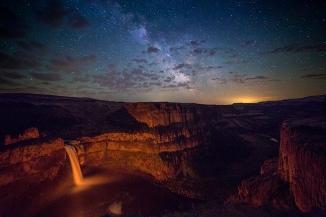 Paliuse Falls and Milky Way