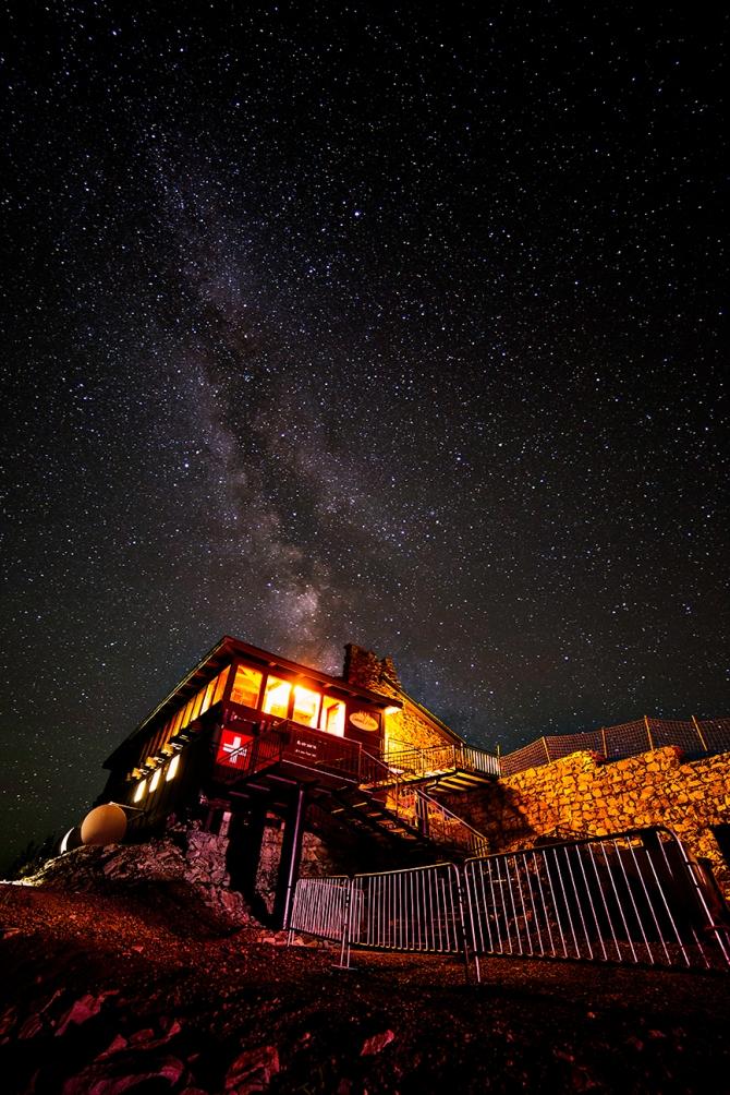 Crystal Resort, at night