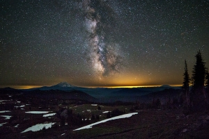 Milky Way over the Goat Rocks
