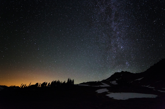 Nighttime in the Goat Rocks Wilderness