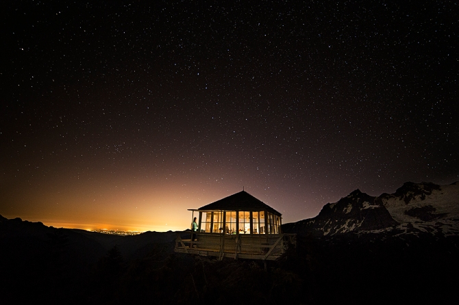 Park Butte Lookout Under the Big Dipper