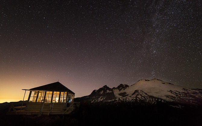 Mount Baker and the Milky Way