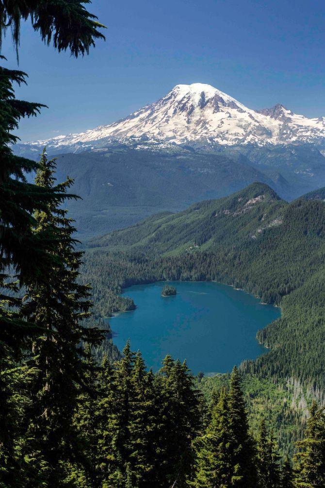 Mount Rainier and Packwood Lake