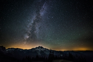 Glacier Peak, Milky Way