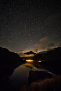 Starry night over Diablo Dam