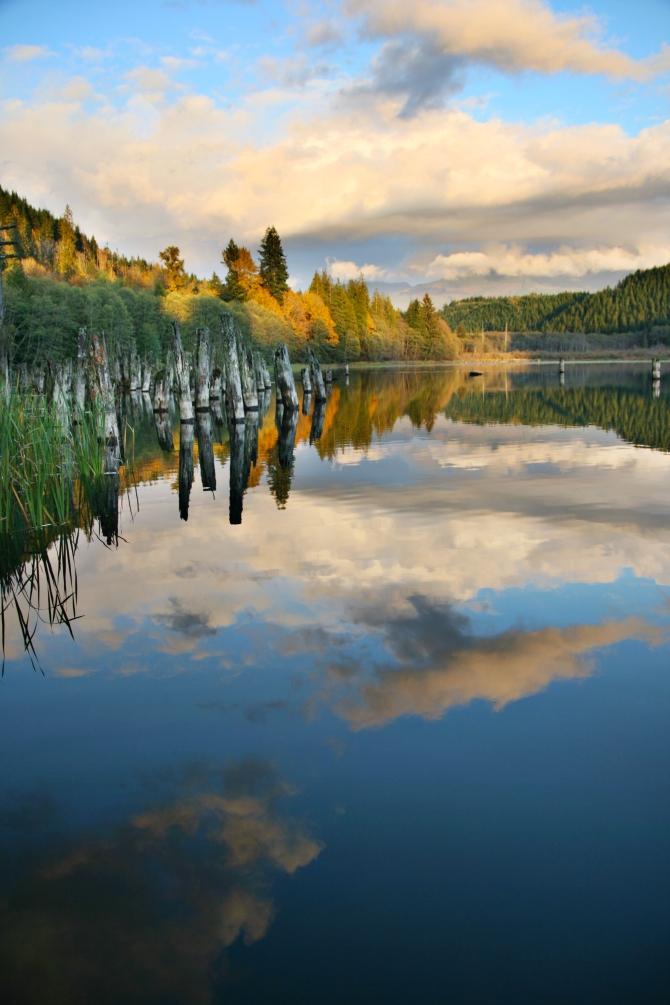 Grandy Lake Sunset, Skagit County