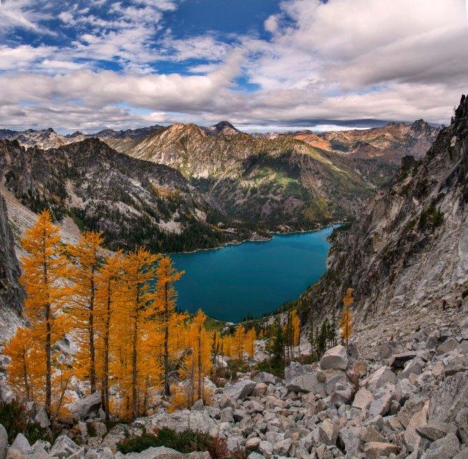 Colchuck Lake, from Aasgard Pass