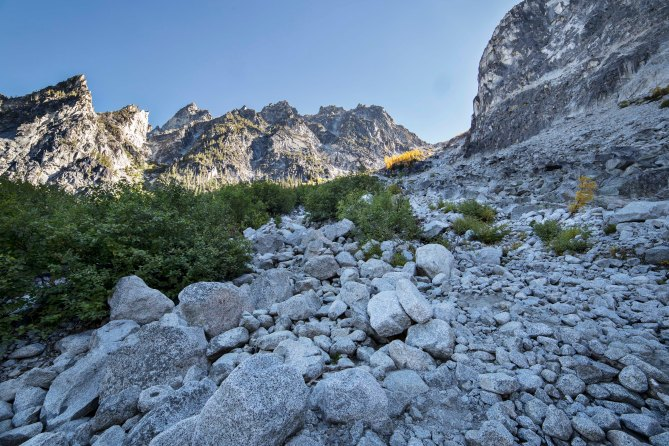 """Aasgard Pass, the """"trail"""" headed up!"""