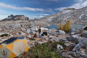 Camped at Isolation Lake, Enchantments, Alpine Lakes Wilderness
