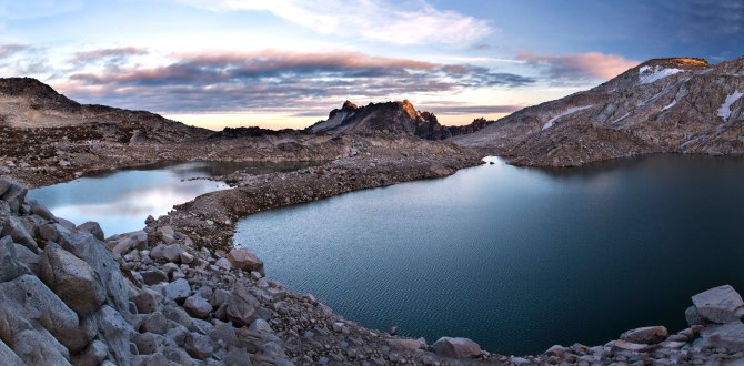 Isolation Lake at sunset