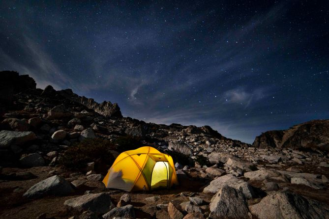 Camped at Isolation Lake, nighttime!