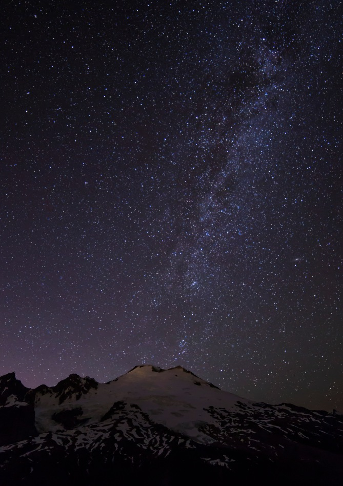 Mount Baker and Stars