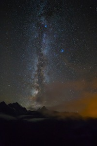 Stars at the Diablo Overlook, North Cascades National Park