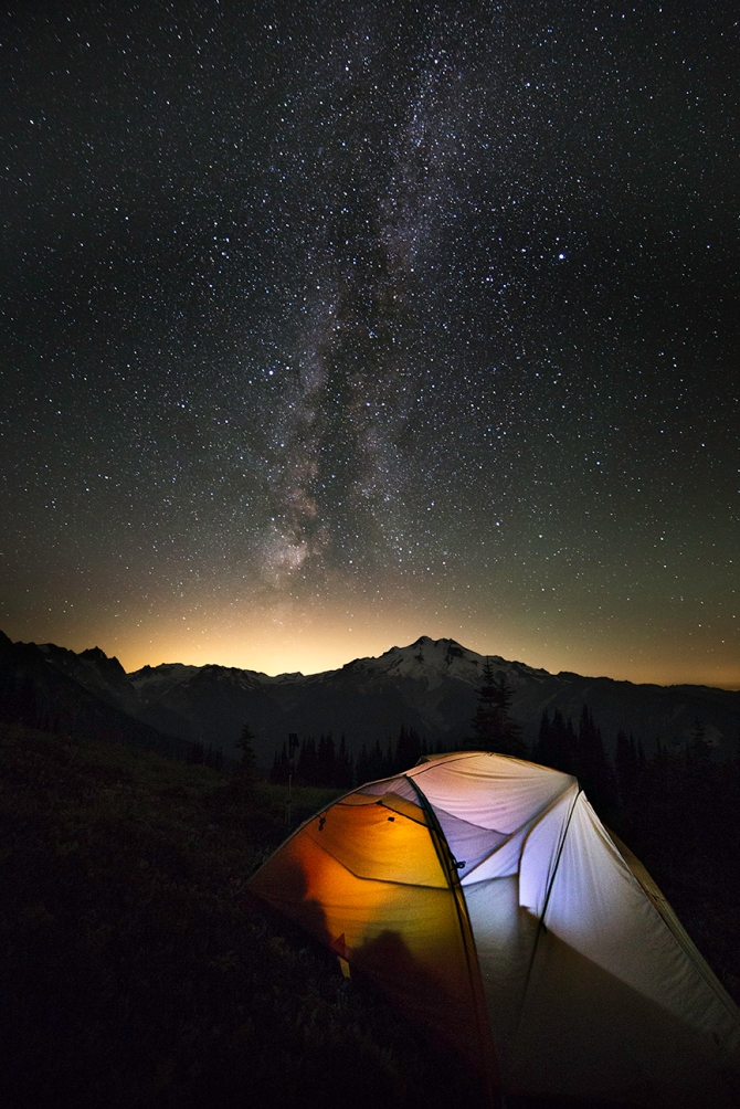 Camped in the Glacier Peak Wilderness
