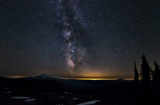 Mount Adams and the Milky Way, Goat Rocks Wilderness