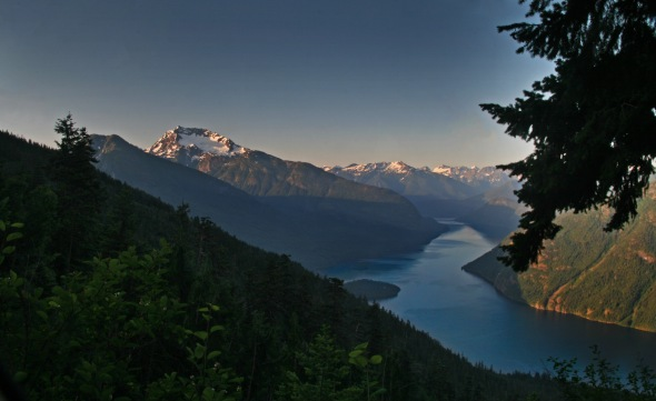 Ross Lake from Desolation Peak, Sunrise