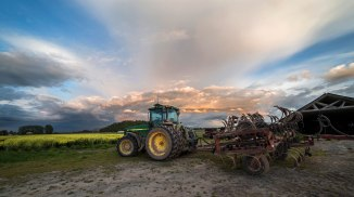Tractor and Sky, Skagit County
