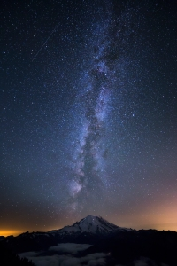Mount Rainier and the Milky Way
