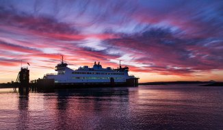 Washington State Ferry Sunrise