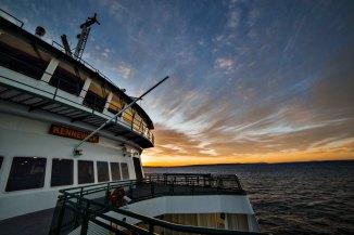 Washington State Ferry Sunrise light
