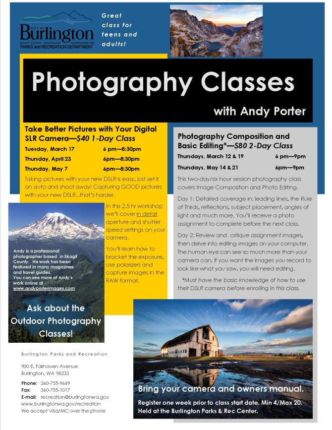 2 page 2015 Spring Classes