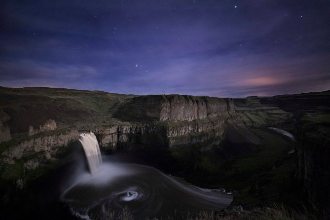 Palouse Falls State Park Moonlight