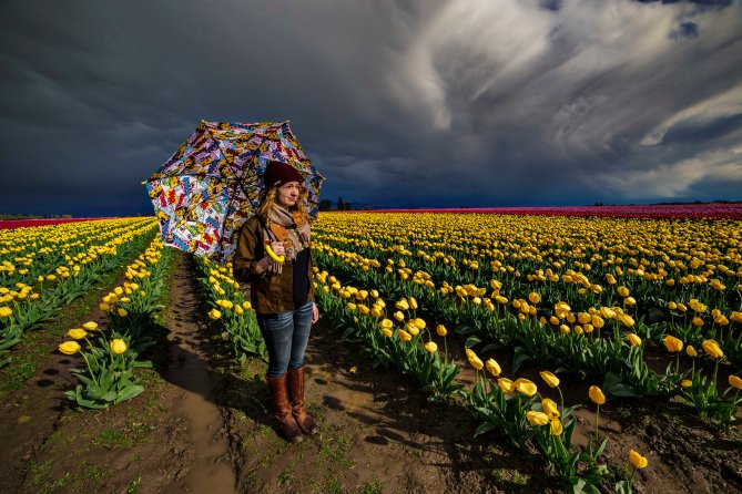 Stormy  Skies, Sun and an Umbrella