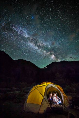 Camped under the Milky Way 3