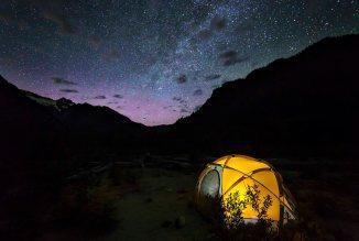 Glow of Aurora Borealis
