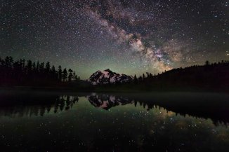 Mount Shuksan and the Milky Way