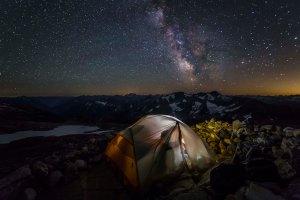 Camped at Sahale Glacier Camp