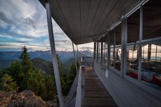 Evening at Park Butte Lookout